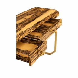 Vertigo Royal Ebony Console Table Open